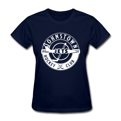 Johnstown Jets Circular Women's T-Shirt - navy
