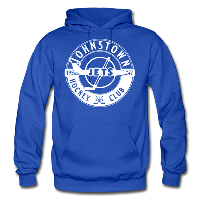 Johnstown Jets Circular Hoodie - royal blue