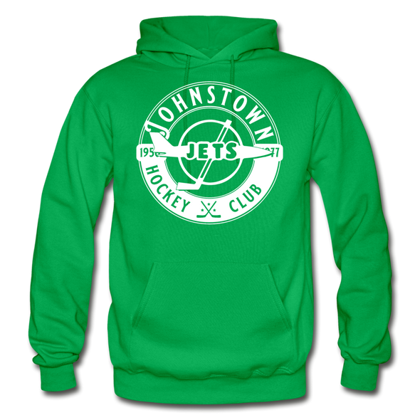Johnstown Jets Circular Hoodie - kelly green