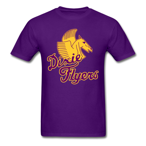 Nashville Dixie Flyers Pegasus Logo T-Shirt - purple