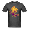 Nashville Dixie Flyers Pegasus Logo T-Shirt - heather black