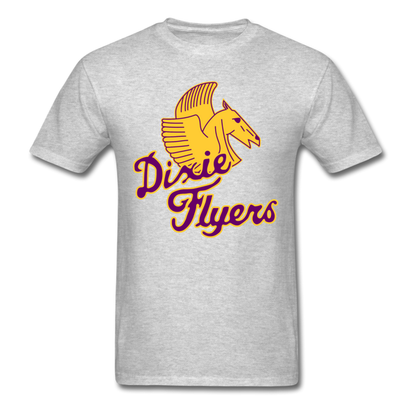 Nashville Dixie Flyers Pegasus Logo T-Shirt - heather gray