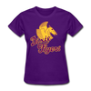 Nashville Dixie Flyers Pegasus Logo Women's T-Shirt - purple