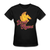 Nashville Dixie Flyers Pegasus Logo Women's T-Shirt - black