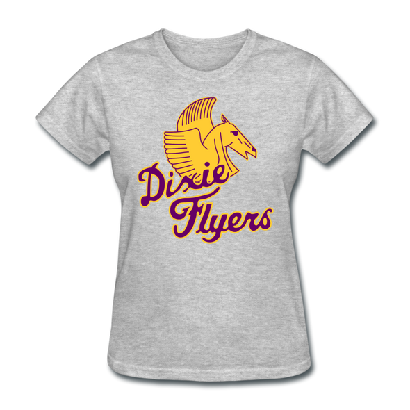 Nashville Dixie Flyers Pegasus Logo Women's T-Shirt - heather gray