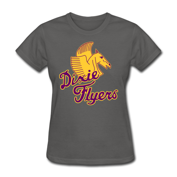 Nashville Dixie Flyers Pegasus Logo Women's T-Shirt - charcoal