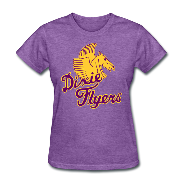 Nashville Dixie Flyers Pegasus Logo Women's T-Shirt - purple heather