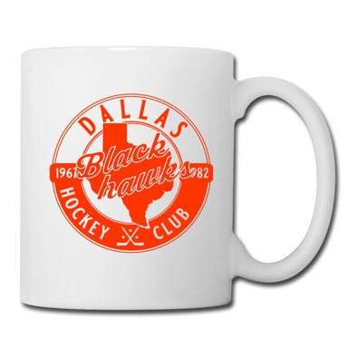 Dallas Blackhawks Circular Dated Mug - white