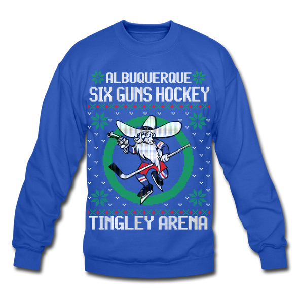 Albuquerque Six Guns Holiday Sweater (Unisex) - royal blue