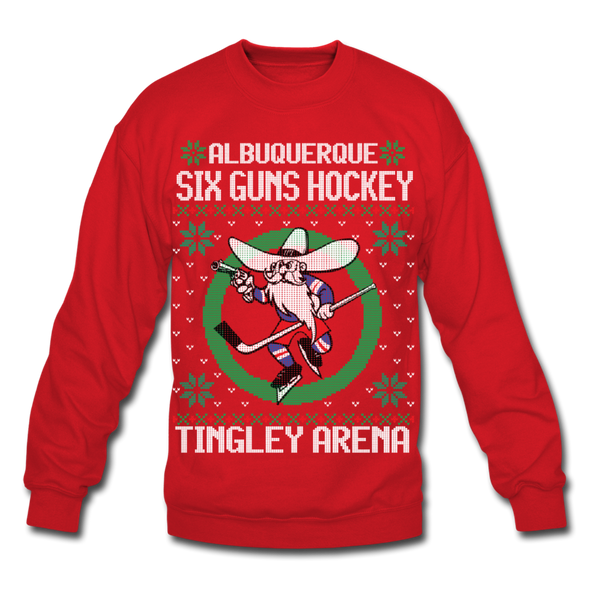 Albuquerque Six Guns Holiday Sweater (Unisex) - red