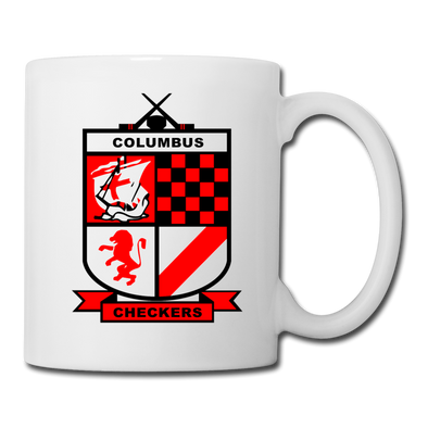 Columbus Checkers Logo Mug - white