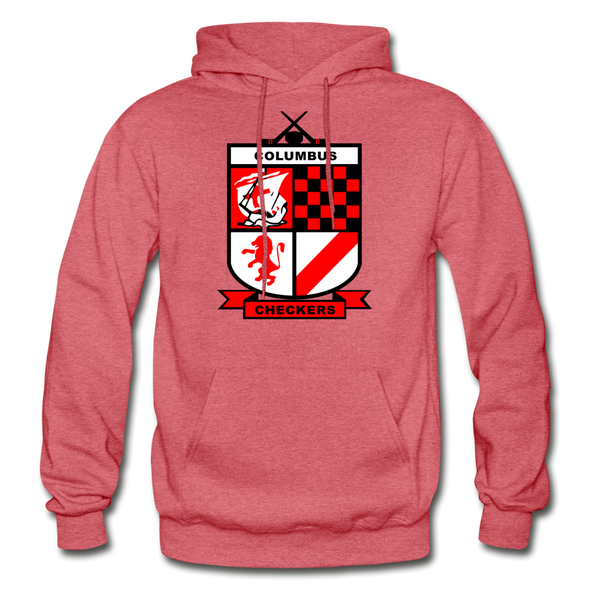 Columbus Checkers Logo Hoodie - heather red