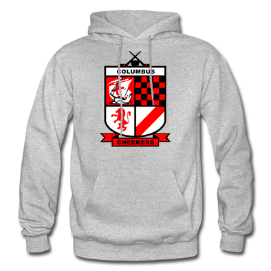 Columbus Checkers Logo Hoodie - heather gray