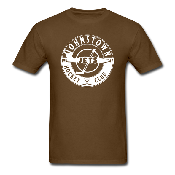 Johnstown Jets Circular Dated T-Shirt (Smaller Design) - brown