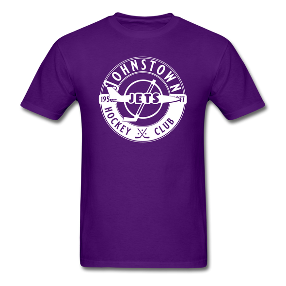 Johnstown Jets Circular Dated T-Shirt (Smaller Design) - purple