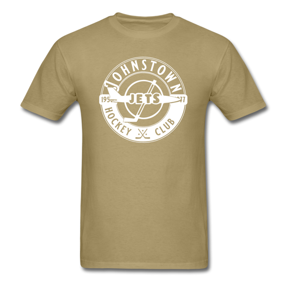 Johnstown Jets Circular Dated T-Shirt (Smaller Design) - khaki