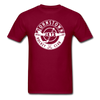 Johnstown Jets Circular Dated T-Shirt (Smaller Design) - burgundy