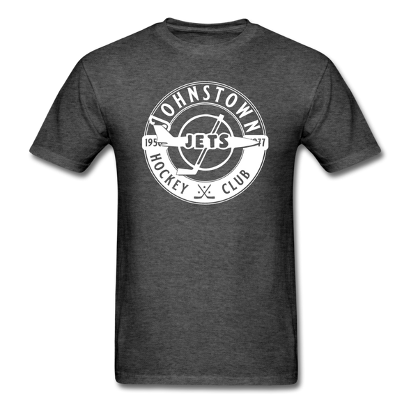Johnstown Jets Circular Dated T-Shirt (Smaller Design) - heather black