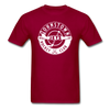 Johnstown Jets Circular Dated T-Shirt (Smaller Design) - dark red