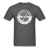 Johnstown Jets Circular Dated T-Shirt (Smaller Design) - charcoal