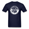 Johnstown Jets Circular Dated T-Shirt (Smaller Design) - navy