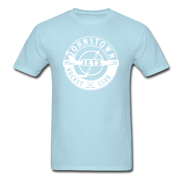 Johnstown Jets Circular Dated T-Shirt (Smaller Design) - powder blue
