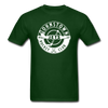 Johnstown Jets Circular Dated T-Shirt (Smaller Design) - forest green