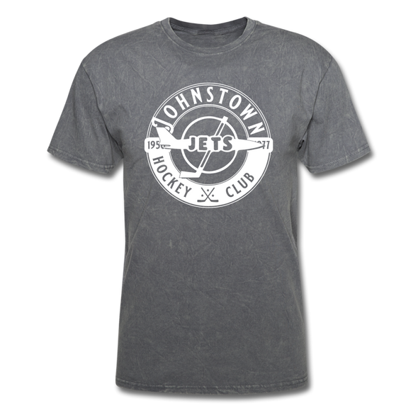 Johnstown Jets Circular Dated T-Shirt (Smaller Design) - mineral charcoal gray