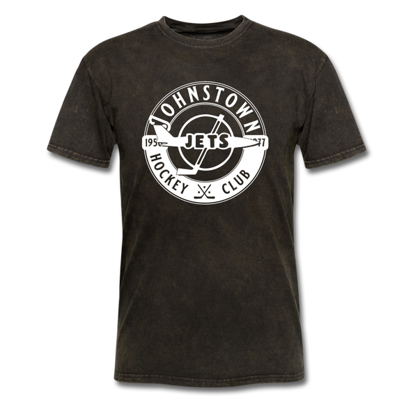 Johnstown Jets Circular Dated T-Shirt (Smaller Design) - mineral black