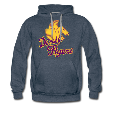 Nashville Dixie Flyers Pegasus Logo Premium Hoodie - heather denim