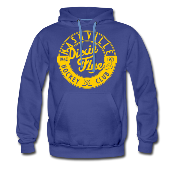 Nashville Dixie Flyers Circular Dated Premium Hoodie - royalblue