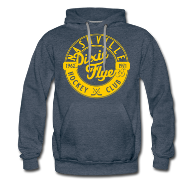 Nashville Dixie Flyers Circular Dated Premium Hoodie - heather denim