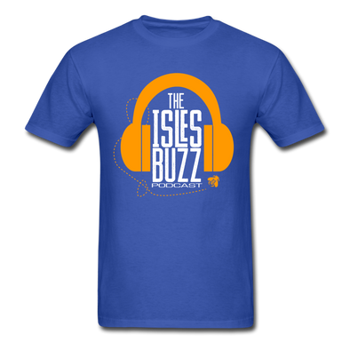 Isles Buzz Podcast T-Shirt - royal blue