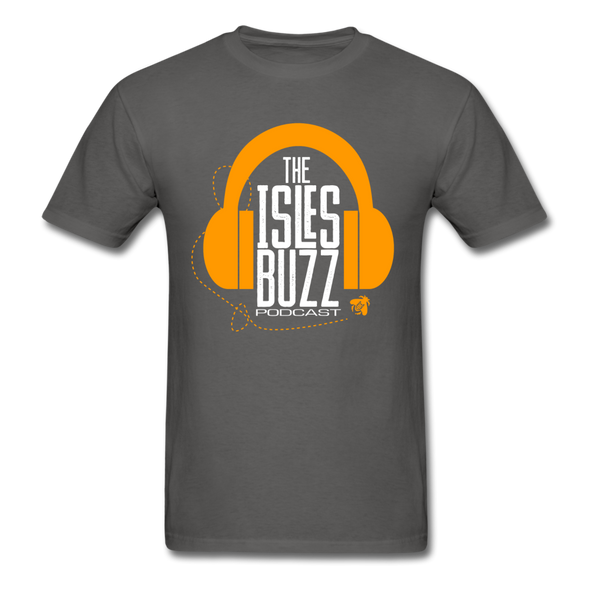 Isles Buzz Podcast T-Shirt - charcoal