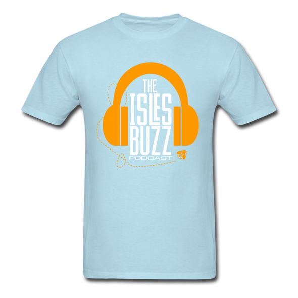 Isles Buzz Podcast T-Shirt - powder blue