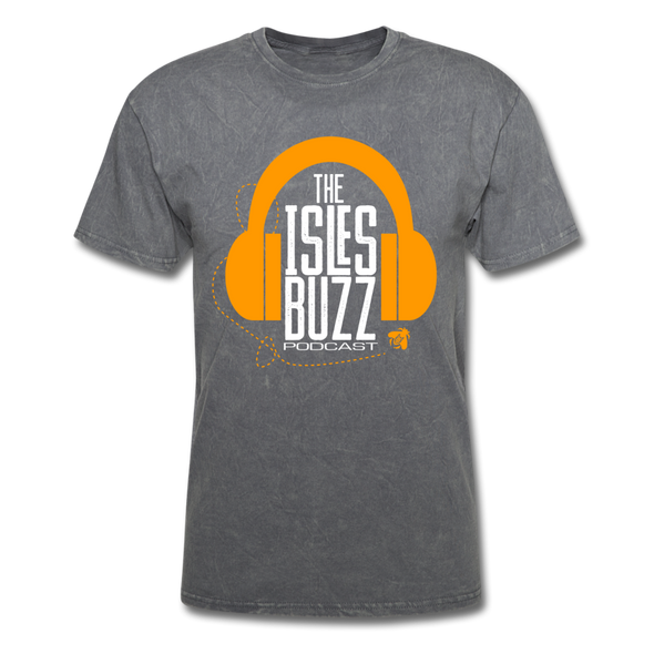 Isles Buzz Podcast T-Shirt - mineral charcoal gray