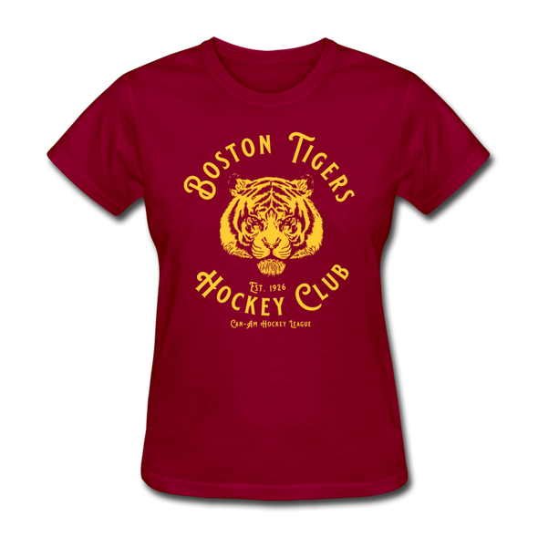 Boston Tigers Women's T-Shirt - dark red