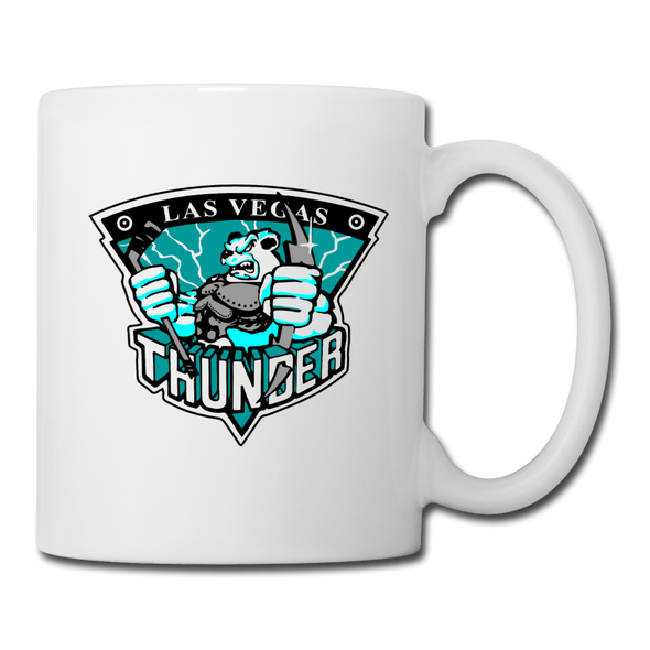 Las Vegas Thunder Boom Boom the Bear White Mug - white