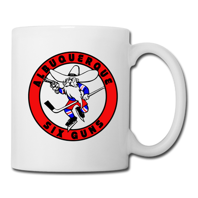 Albuquerque Six Guns Text Logo Mug (CHL) - white