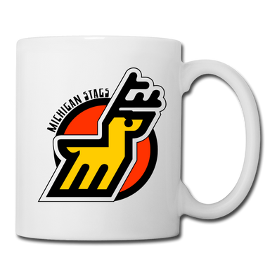 Michigan Stags Logo Mug (WHA) - white