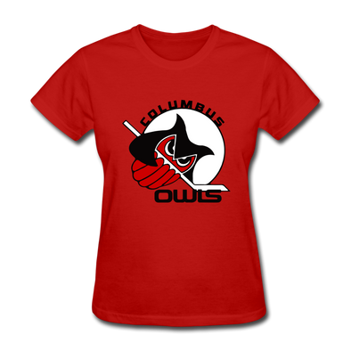 Columbus Owls Women's T-Shirt - red