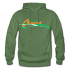 Albuquerque Chaparrals Logo Hoodie - military green