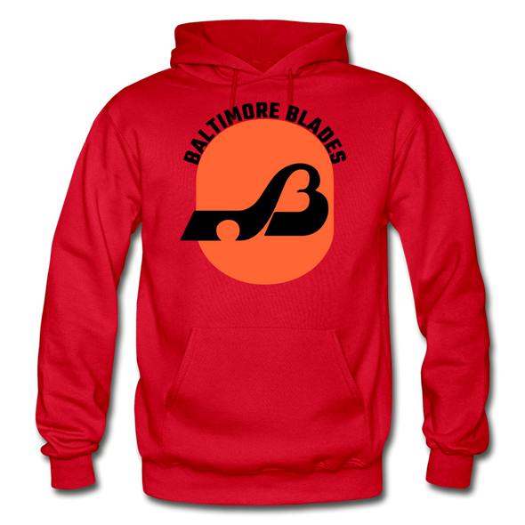 Baltimore Blades Text Logo Hoodie (WHA) - red