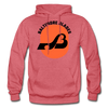 Baltimore Blades Text Logo Hoodie (WHA) - heather red