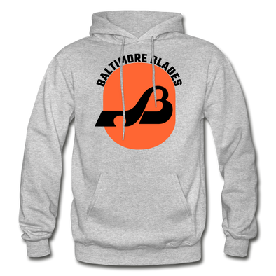 Baltimore Blades Text Logo Hoodie (WHA) - heather gray