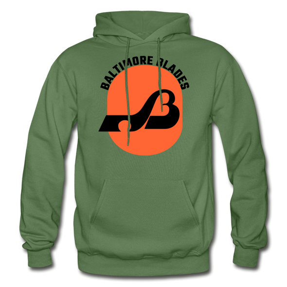 Baltimore Blades Text Logo Hoodie (WHA) - military green