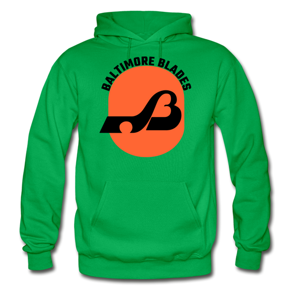 Baltimore Blades Text Logo Hoodie (WHA) - kelly green