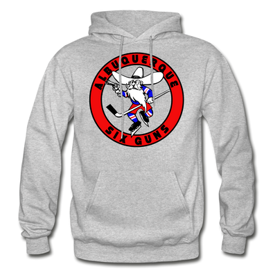 Albuquerque Six Guns Text Logo Hoodie (CHL) - heather gray