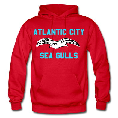 Atlantic City Sea Gulls Logo Hoodie (EHL) - red