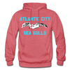 Atlantic City Sea Gulls Logo Hoodie (EHL) - heather red